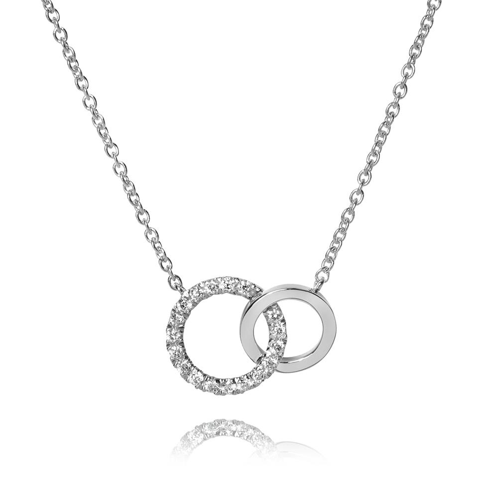 Union 18ct White Gold Diamond Circle Necklace Thumbnail Image 0