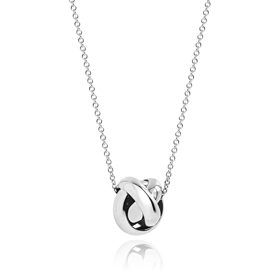 Echo 18ct White Gold Necklace Thumbnail Image 0