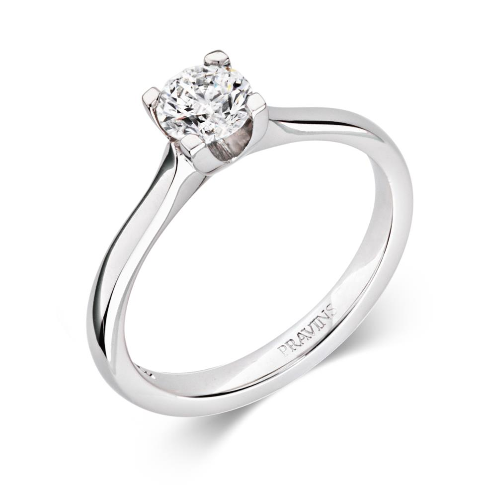 Platinum Modern Brilliant Cut 0.50ct Diamond Solitaire Ring Thumbnail Image 0