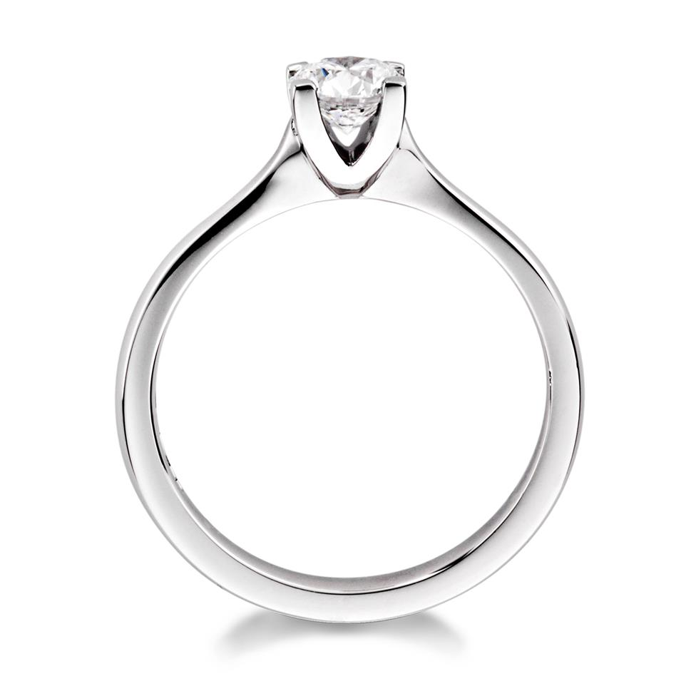 Platinum Modern Brilliant Cut 0.50ct Diamond Solitaire Ring Thumbnail Image 1