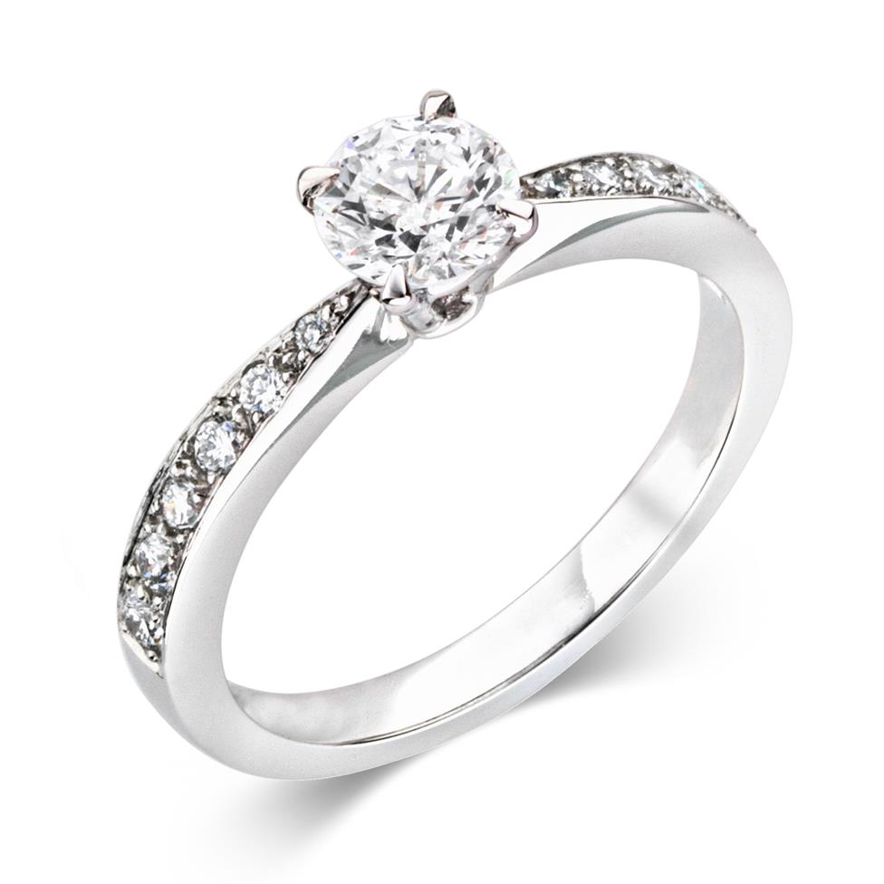 Platinum Dramatic 0.80ct Diamond Solitaire Ring Image 1