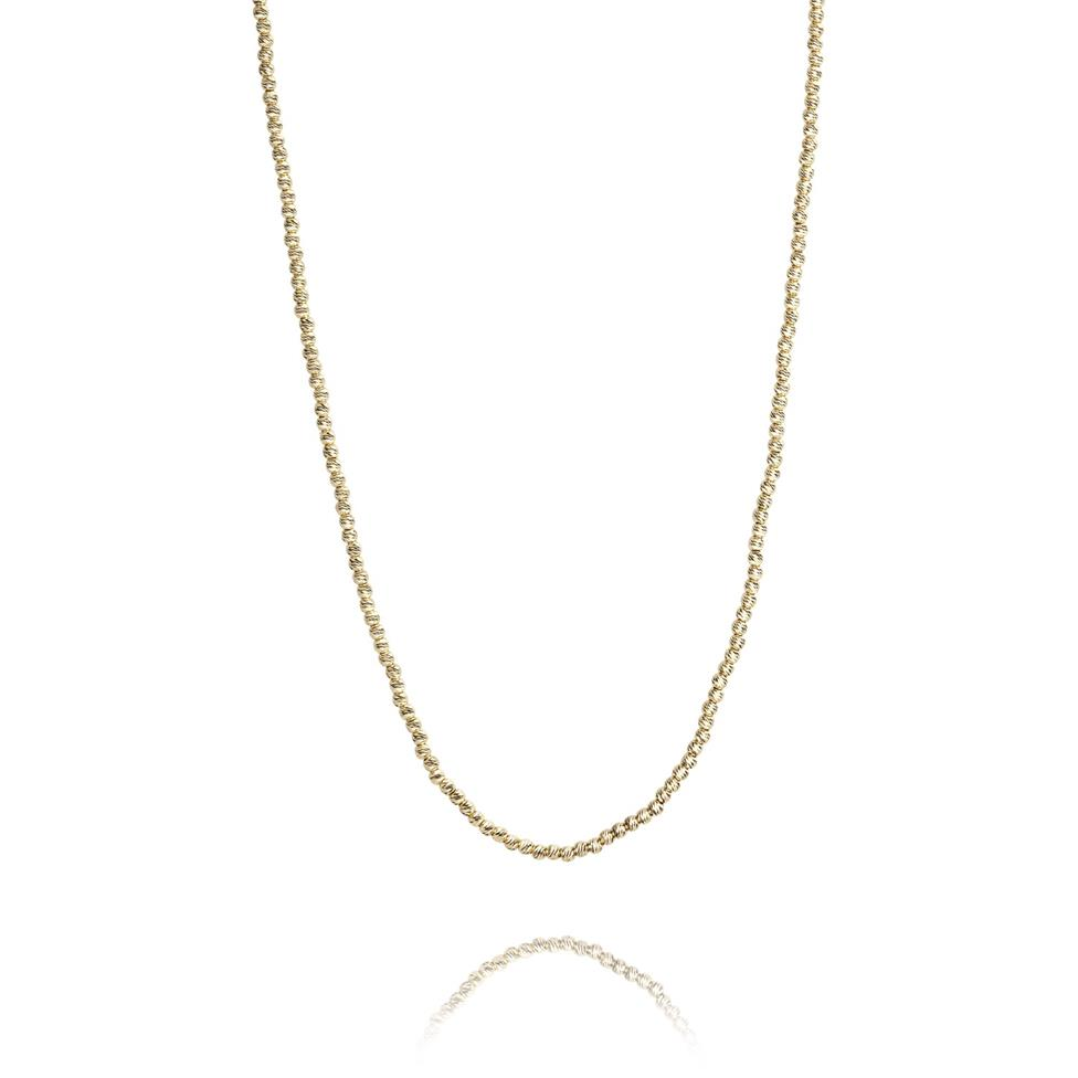 18ct Yellow Gold Faceted Bead Detail Necklace Thumbnail Image 0