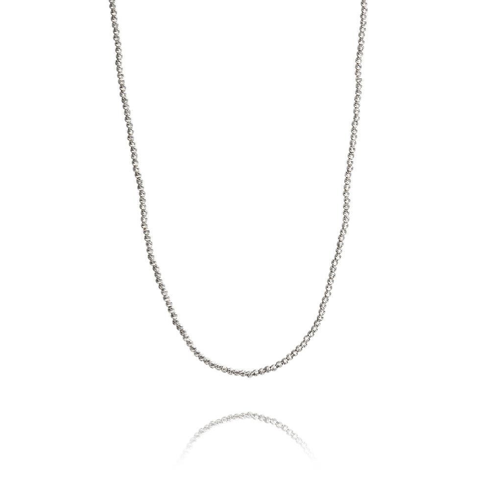 18ct White Gold Diamond Cut Necklace Thumbnail Image 0