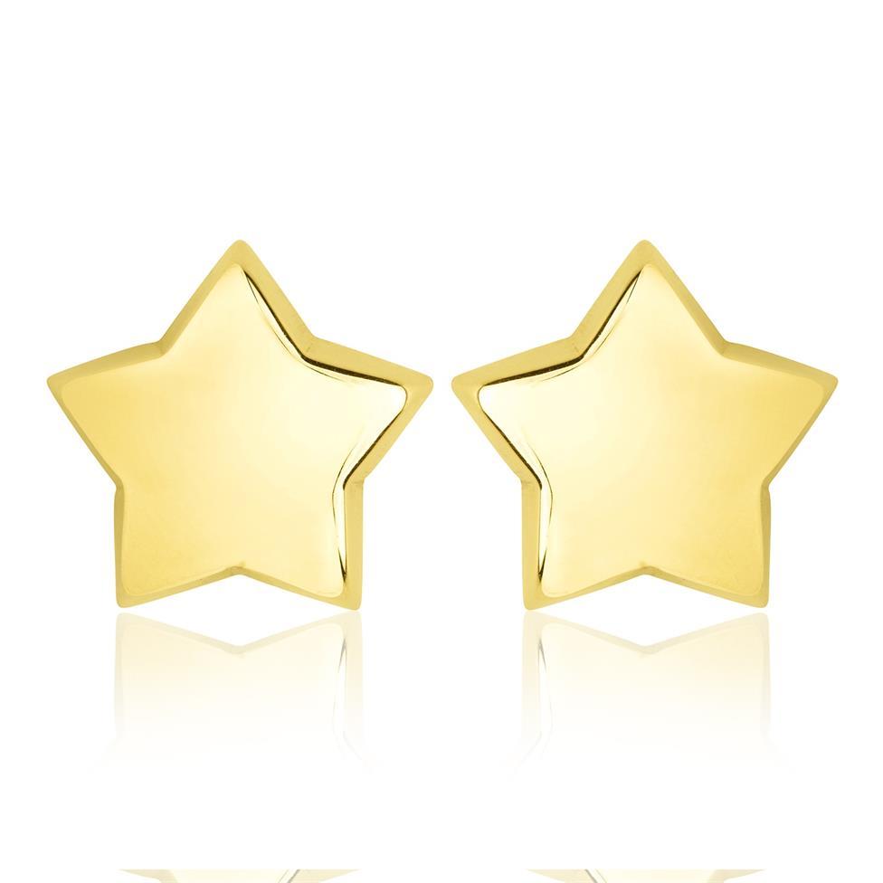 18ct Yellow Gold Star Design Stud Earrings 5.5mm Thumbnail Image 0