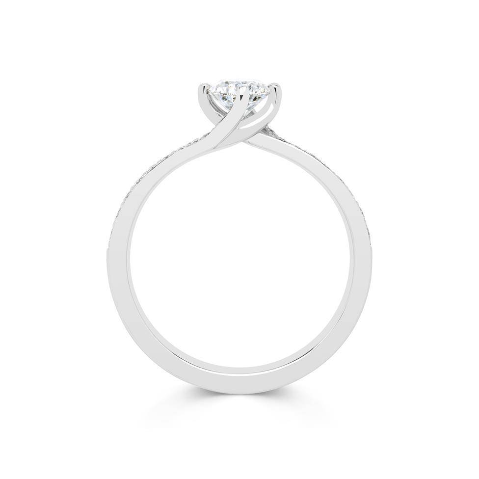 Platinum Twist Design Diamond Solitaire Engagement Ring 0.75ct Thumbnail Image 1