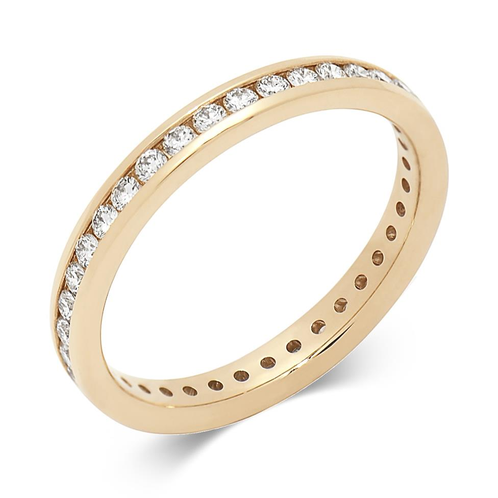 18ct Yellow Gold 0.50ct Diamond Classic Eternity Ring Thumbnail Image 0