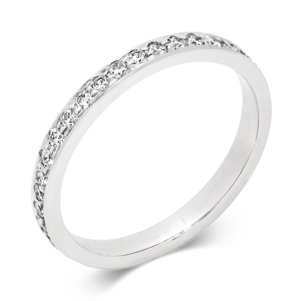 Platinum 0.40ct Full Diamond Channel Ring Image 1