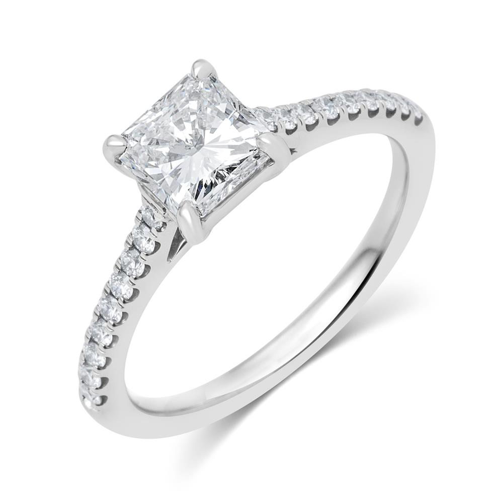 Platinum Radiant Cut Diamond Solitaire Engagement Ring 1.25ct Thumbnail Image 0