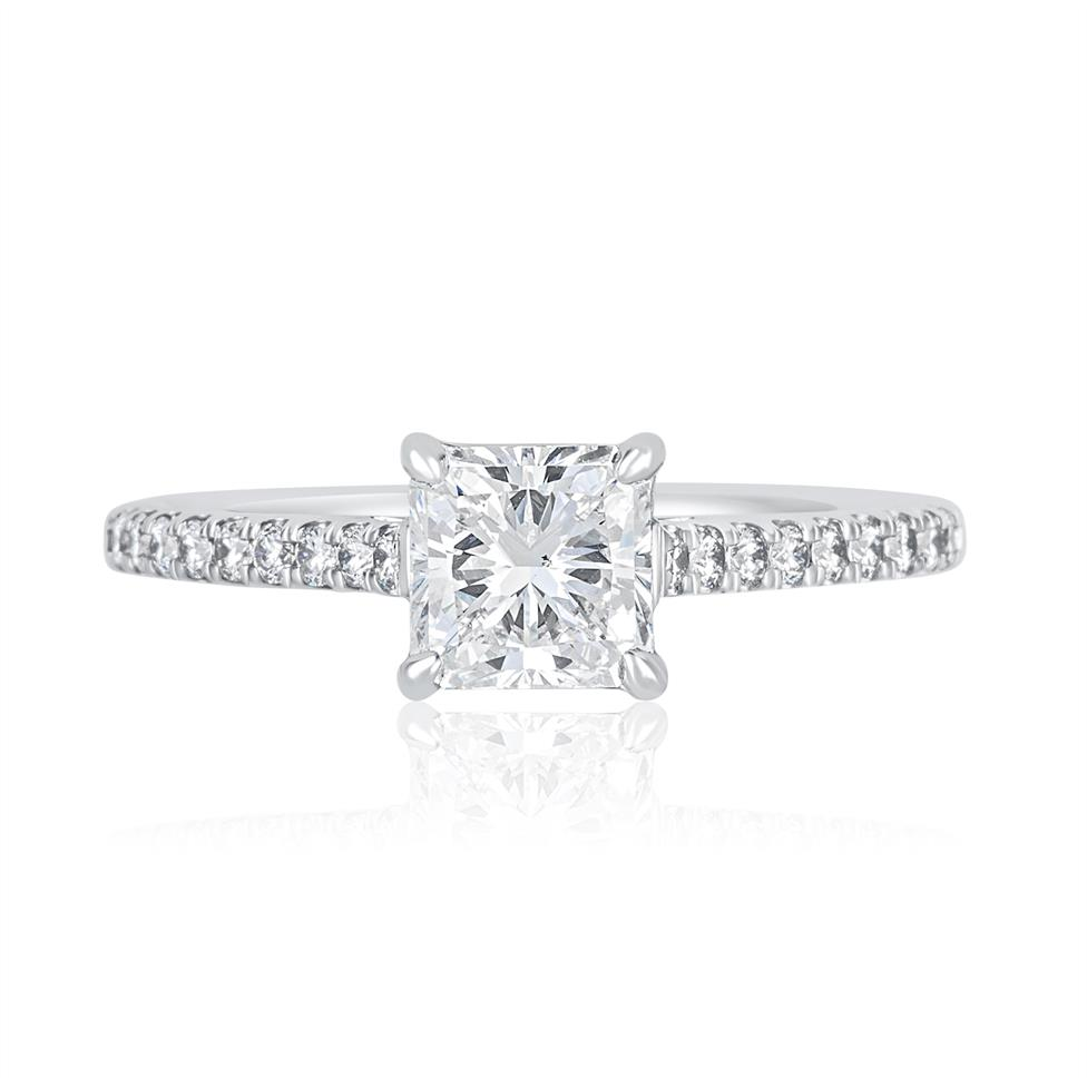 Platinum Radiant Cut Diamond Solitaire Engagement Ring 1.25ct Thumbnail Image 1