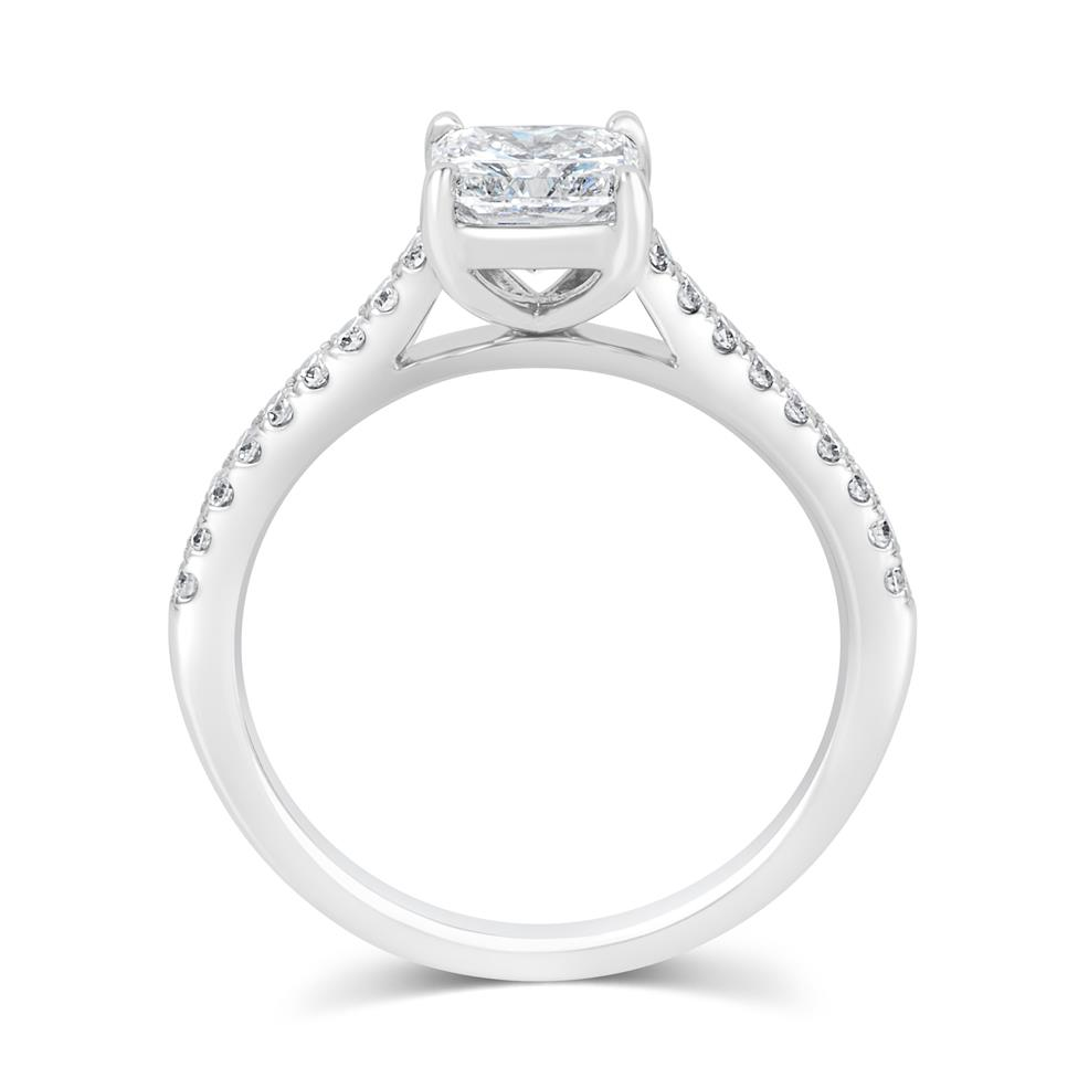 Platinum Radiant Cut Diamond Solitaire Engagement Ring 1.25ct Thumbnail Image 2