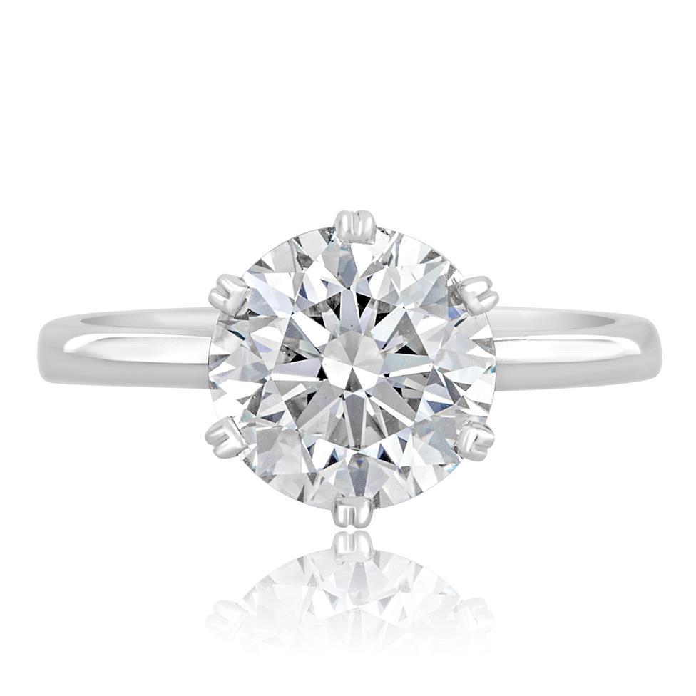 Platinum Diamond Solitaire Engagement Ring 3.03ct Thumbnail Image 1