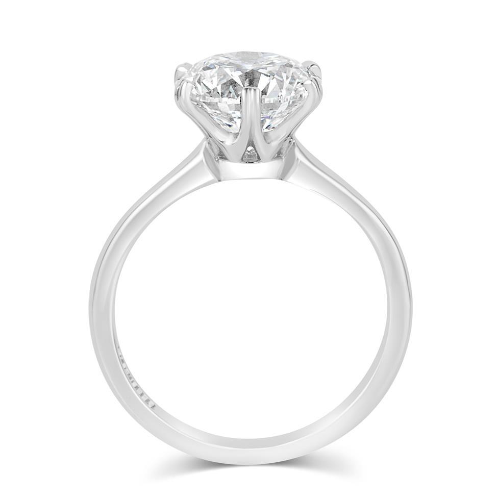 Platinum Diamond Solitaire Engagement Ring 3.03ct Thumbnail Image 2