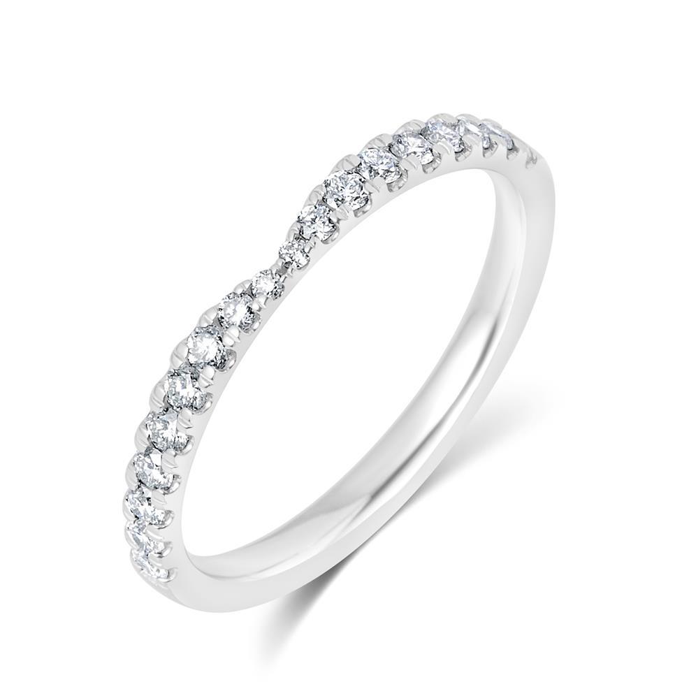 Platinum Diamond Set Wedding Ring 0.28ct Thumbnail Image 0