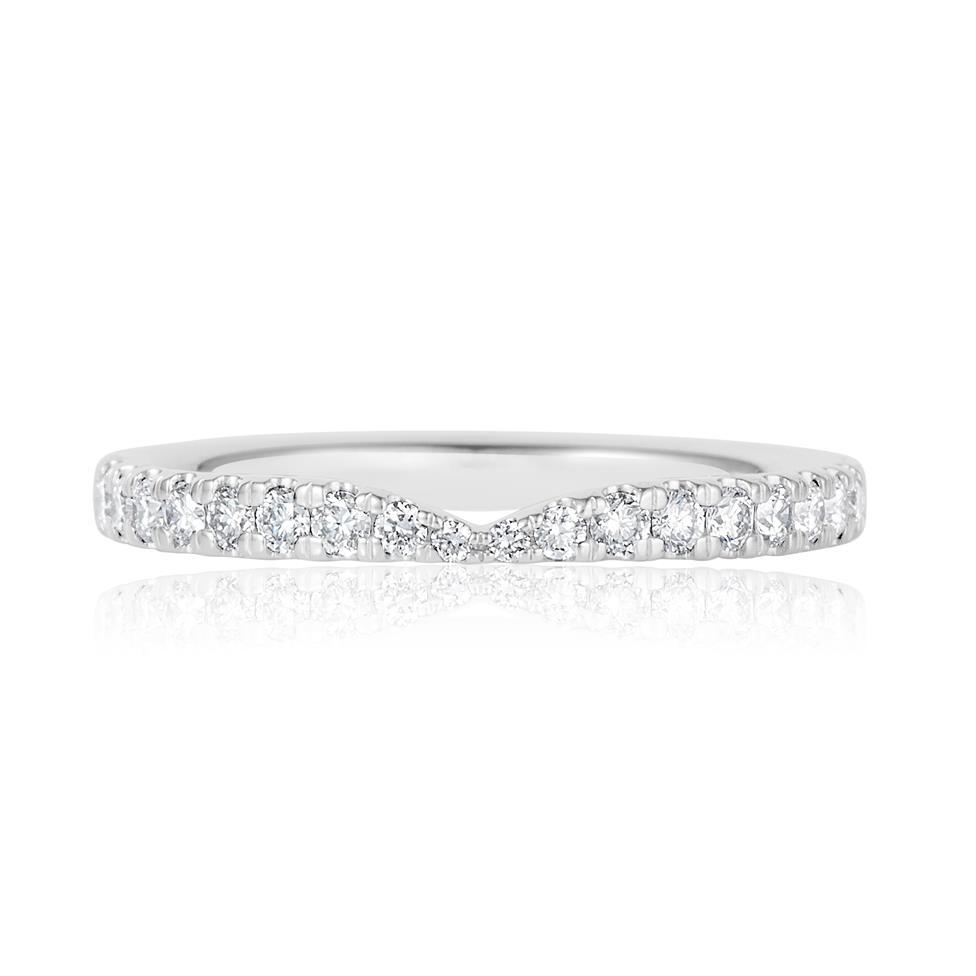 Platinum Diamond Set Wedding Ring 0.28ct Thumbnail Image 1