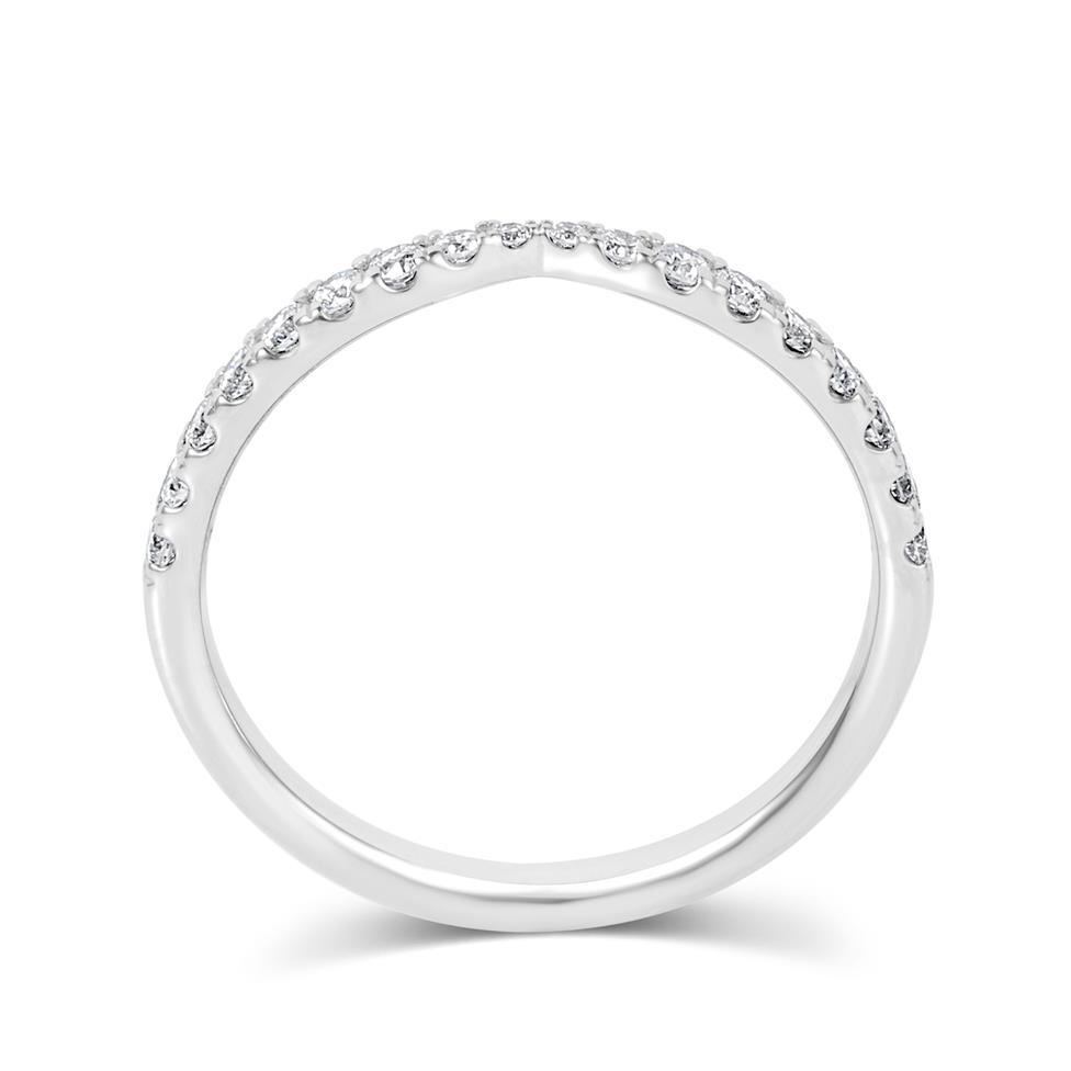 Platinum Diamond Set Wedding Ring 0.28ct Thumbnail Image 2