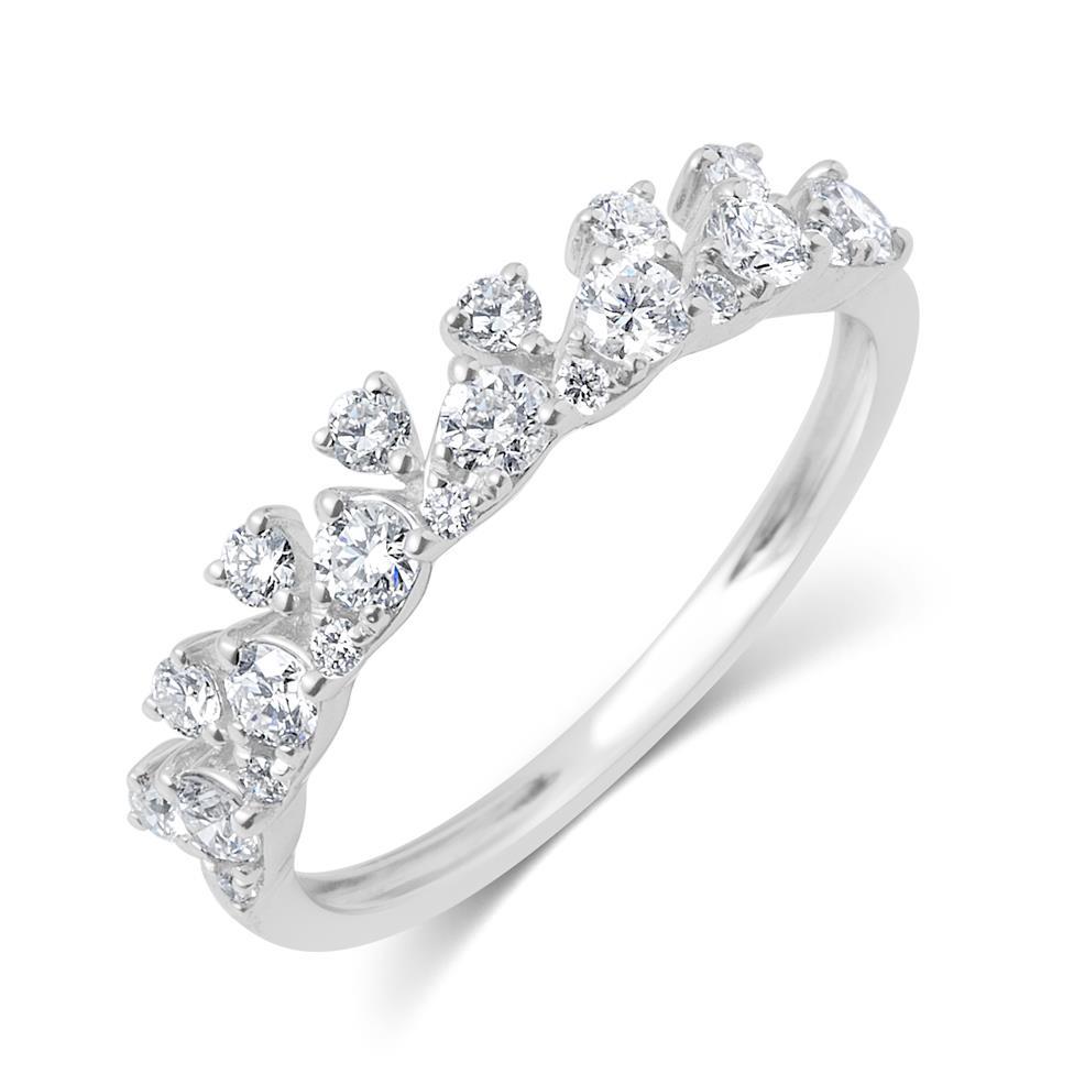 18ct White Gold Petal Design Diamond Dress Ring 0.50ct Thumbnail Image 0