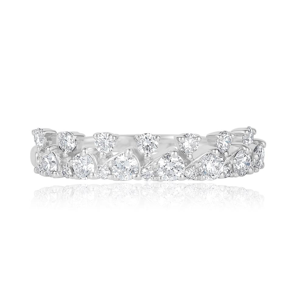 18ct White Gold Petal Design Diamond Dress Ring 0.50ct Thumbnail Image 1