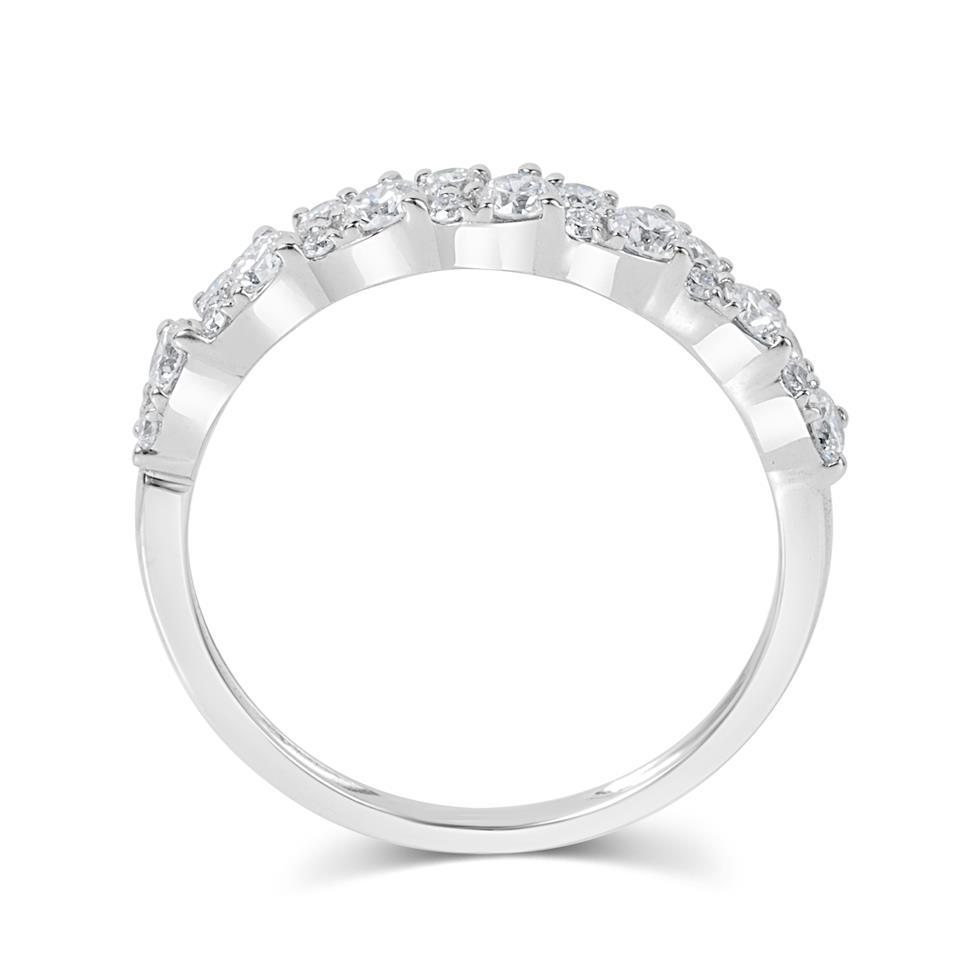 18ct White Gold Petal Design Diamond Dress Ring 0.50ct Thumbnail Image 2