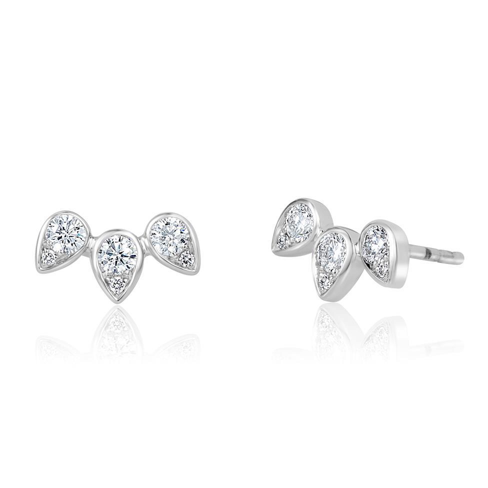 18ct White Gold Diamond Stud Earrings 0.38ct Thumbnail Image 0