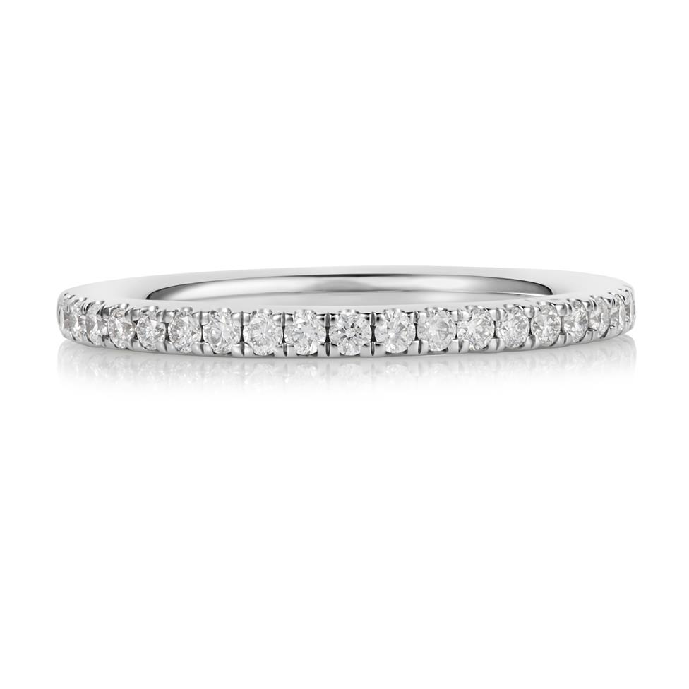 Platinum Diamond Half Eternity Ring 0.25ct Thumbnail Image 2