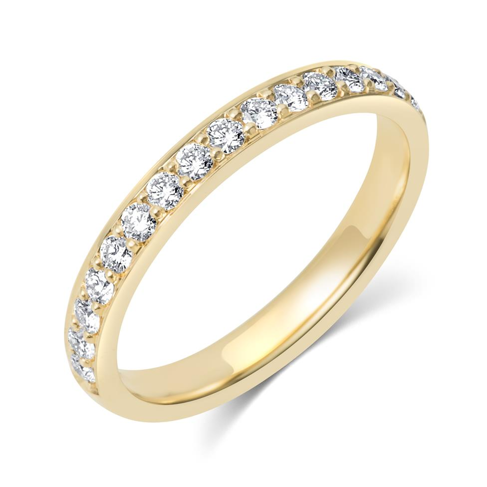 18ct Yellow Gold Diamond Half Eternity Ring 0.33ct Thumbnail Image 0