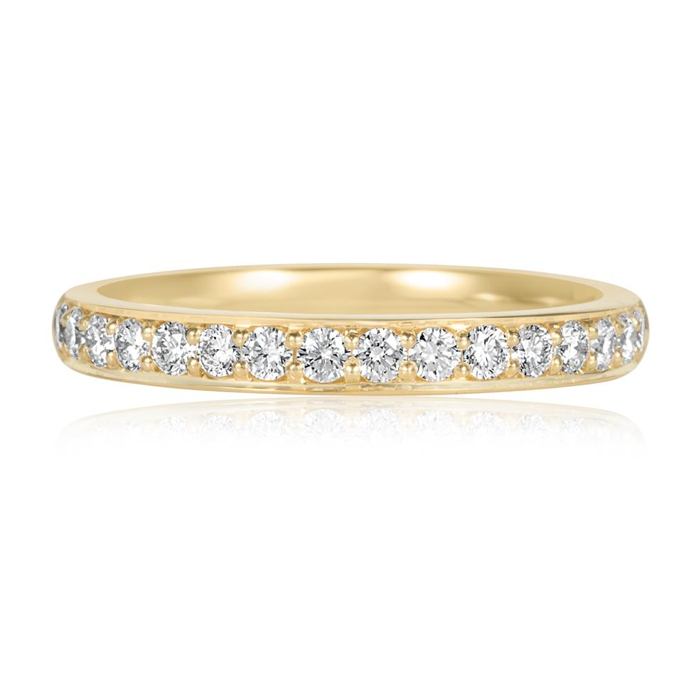 18ct Yellow Gold Diamond Half Eternity Ring 0.33ct Thumbnail Image 1