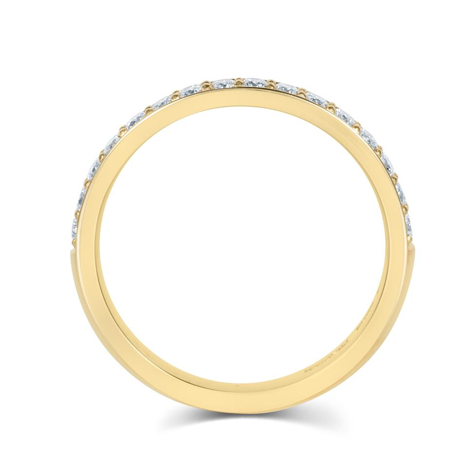 18ct Yellow Gold Diamond Half Eternity Ring 0.33ct Thumbnail Image 2