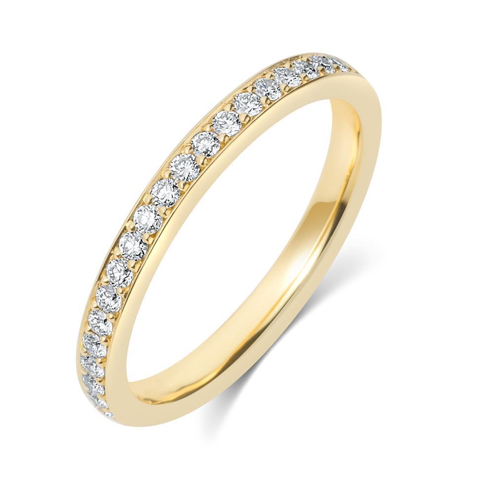18ct Yellow Gold Diamond Half Eternity Ring 0.20ct Thumbnail Image 0