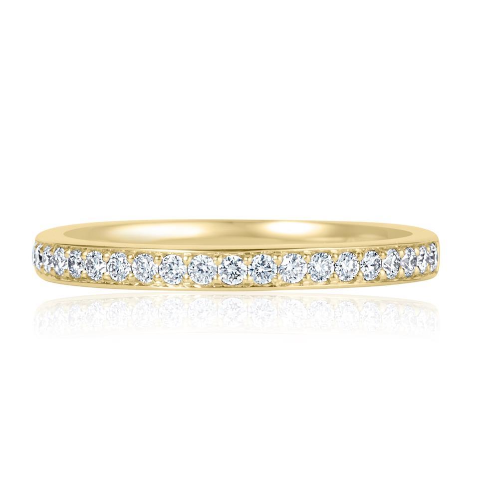 18ct Yellow Gold Diamond Half Eternity Ring 0.20ct Thumbnail Image 1