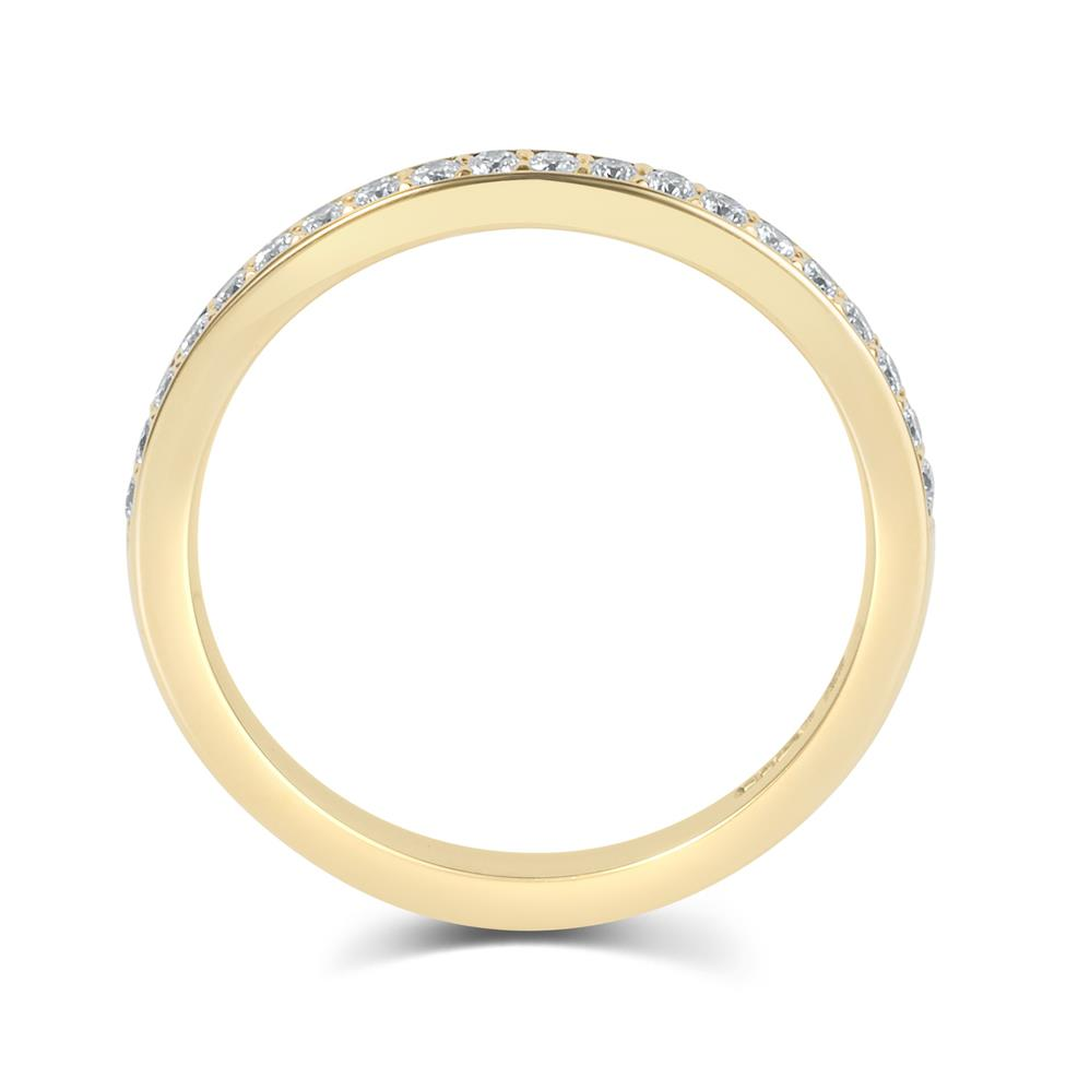 18ct Yellow Gold Diamond Half Eternity Ring 0.20ct Thumbnail Image 2