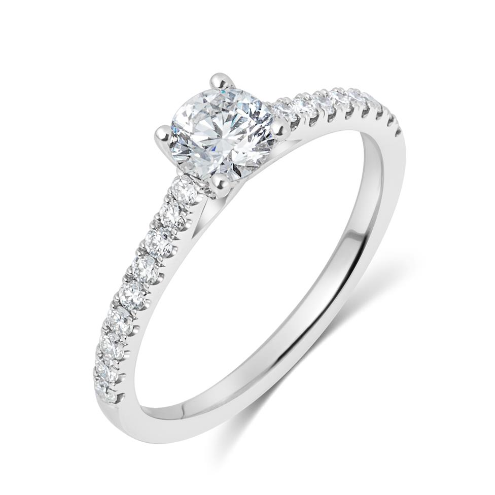 Platinum Diamond Solitaire Engagement Ring 0.80ct Thumbnail Image 0