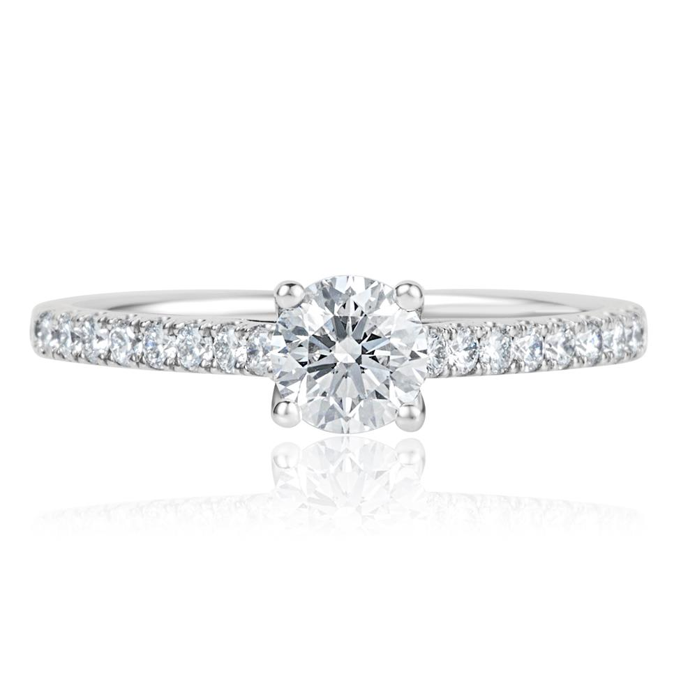 Platinum Diamond Solitaire Engagement Ring 0.80ct Thumbnail Image 1