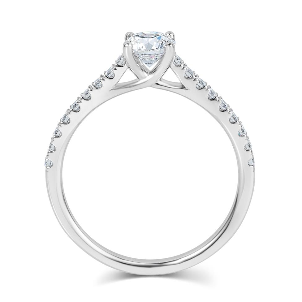 Platinum Diamond Solitaire Engagement Ring 0.80ct Thumbnail Image 2