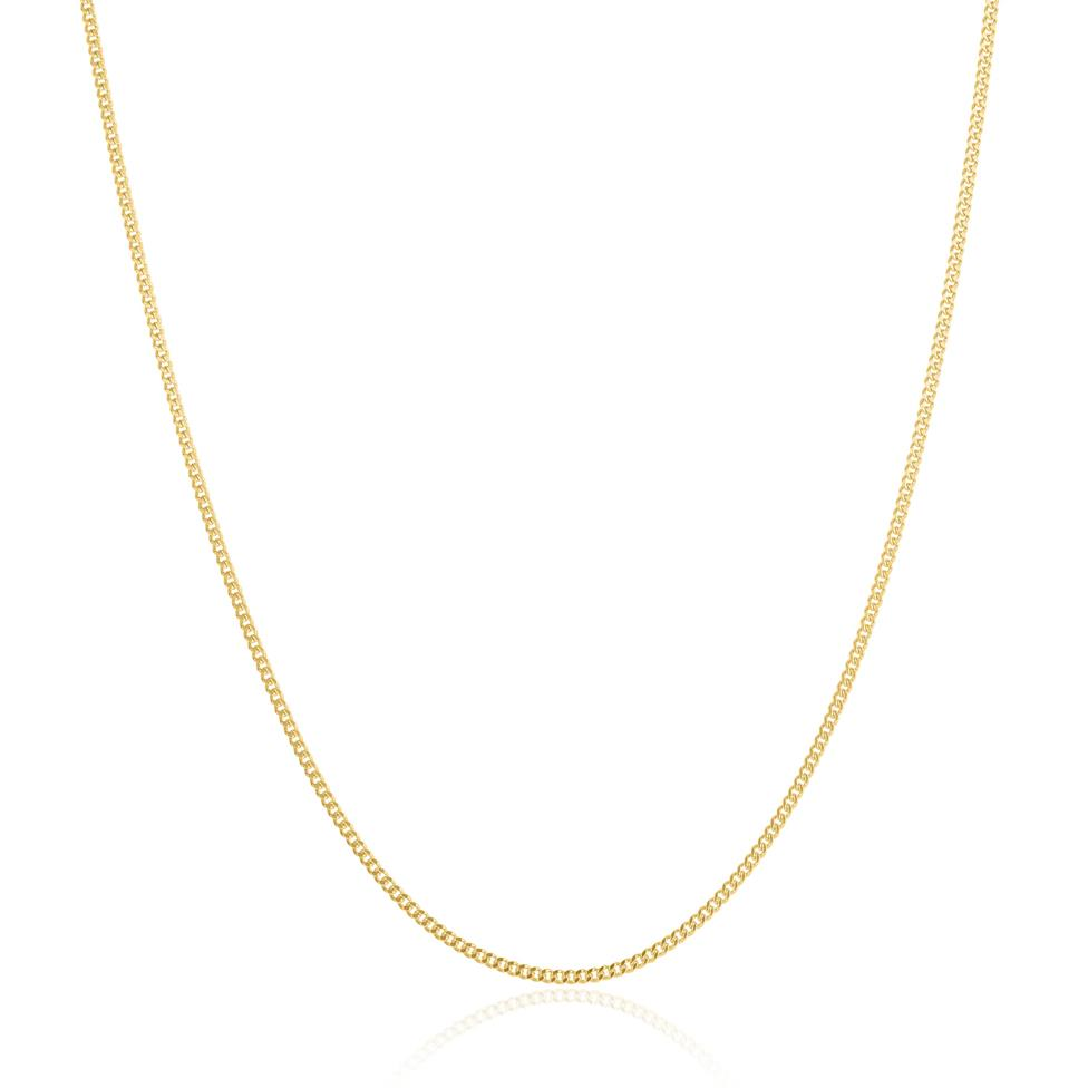 18ct Yellow Gold Heavy Curb Chain 50cm Thumbnail Image 0