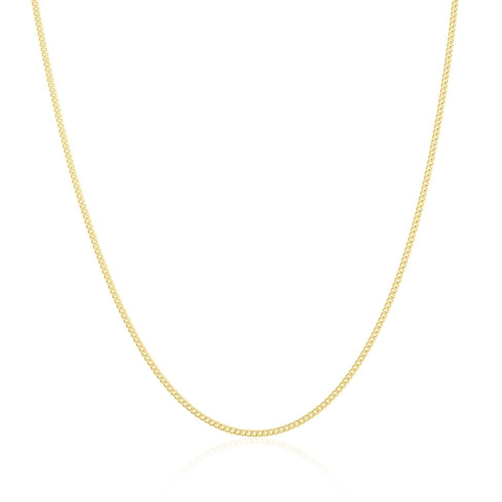 18ct Yellow Gold Heavy Curb Chain 60cm Thumbnail Image 0
