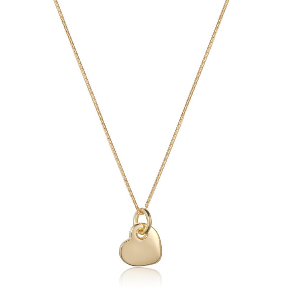 Treasured 18ct Yellow Gold Heart Design Pendant Thumbnail Image 0