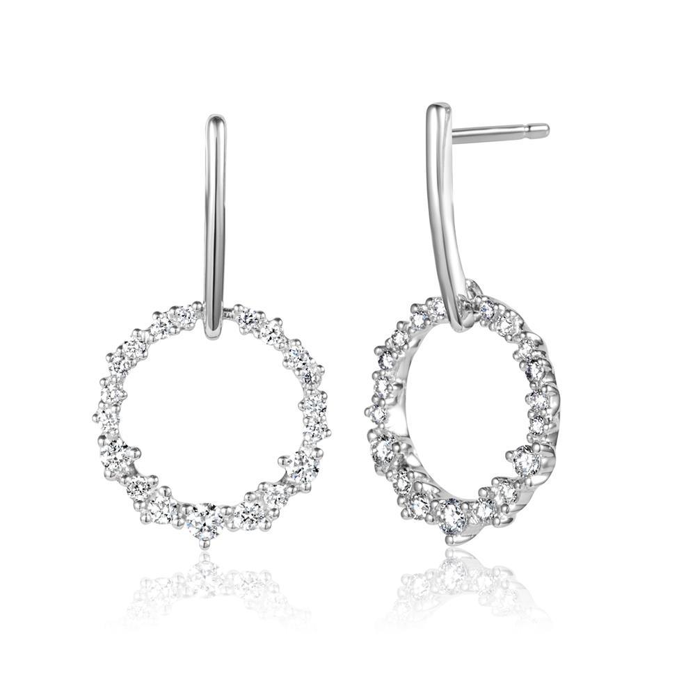 18ct White Gold Diamond Drop Earrings 0.30ct Thumbnail Image 0