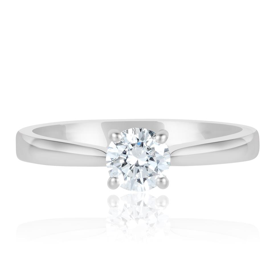 Platinum Diamond Solitaire Engagement Ring 0.50ct Thumbnail Image 1