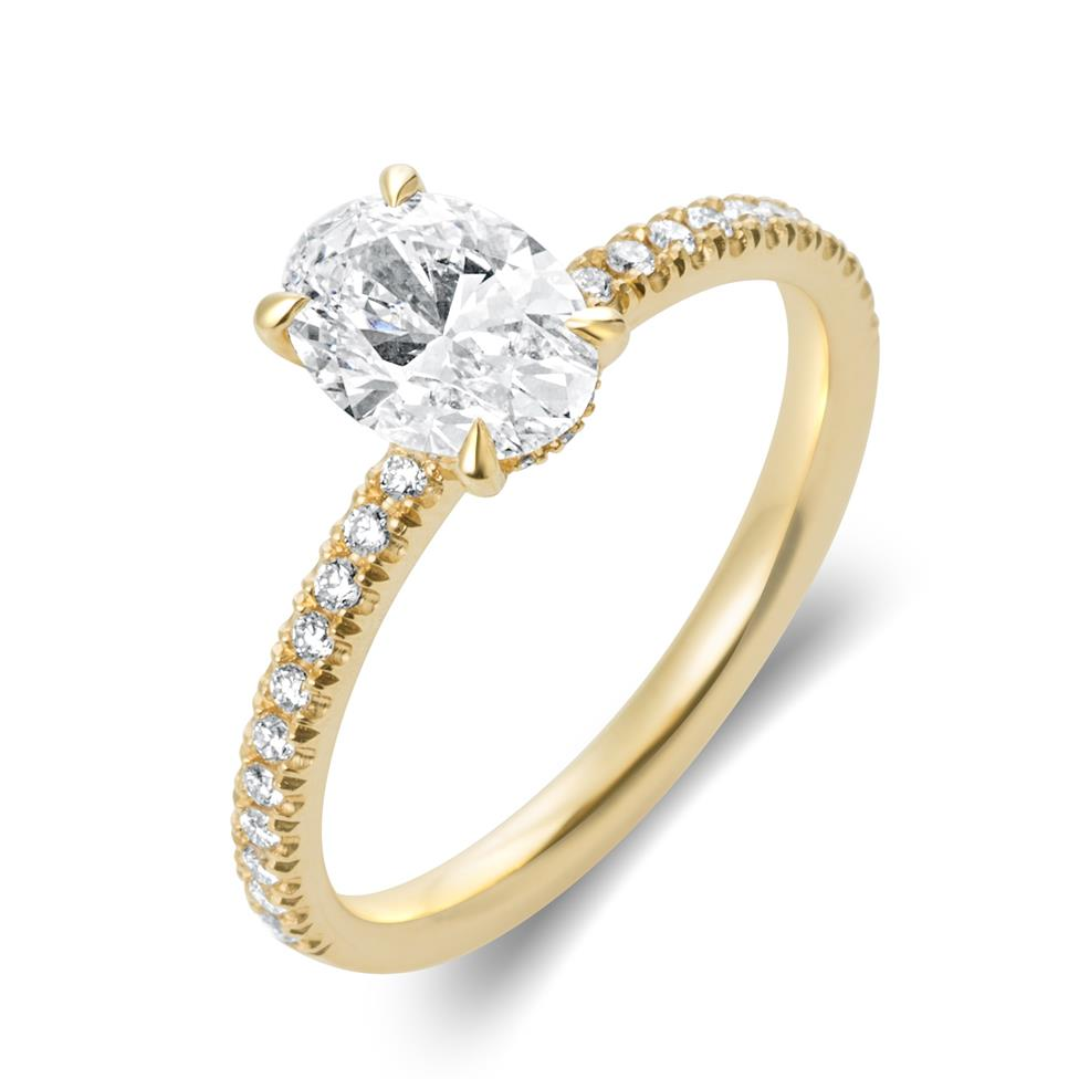 18ct Yellow Gold Oval Diamond Solitaire Engagement Ring 1.19ct Thumbnail Image 0