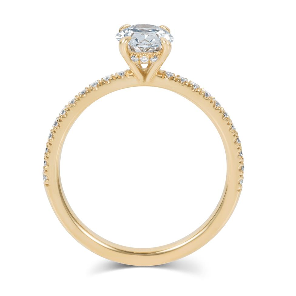 18ct Yellow Gold Oval Diamond Solitaire Engagement Ring 1.19ct Thumbnail Image 2