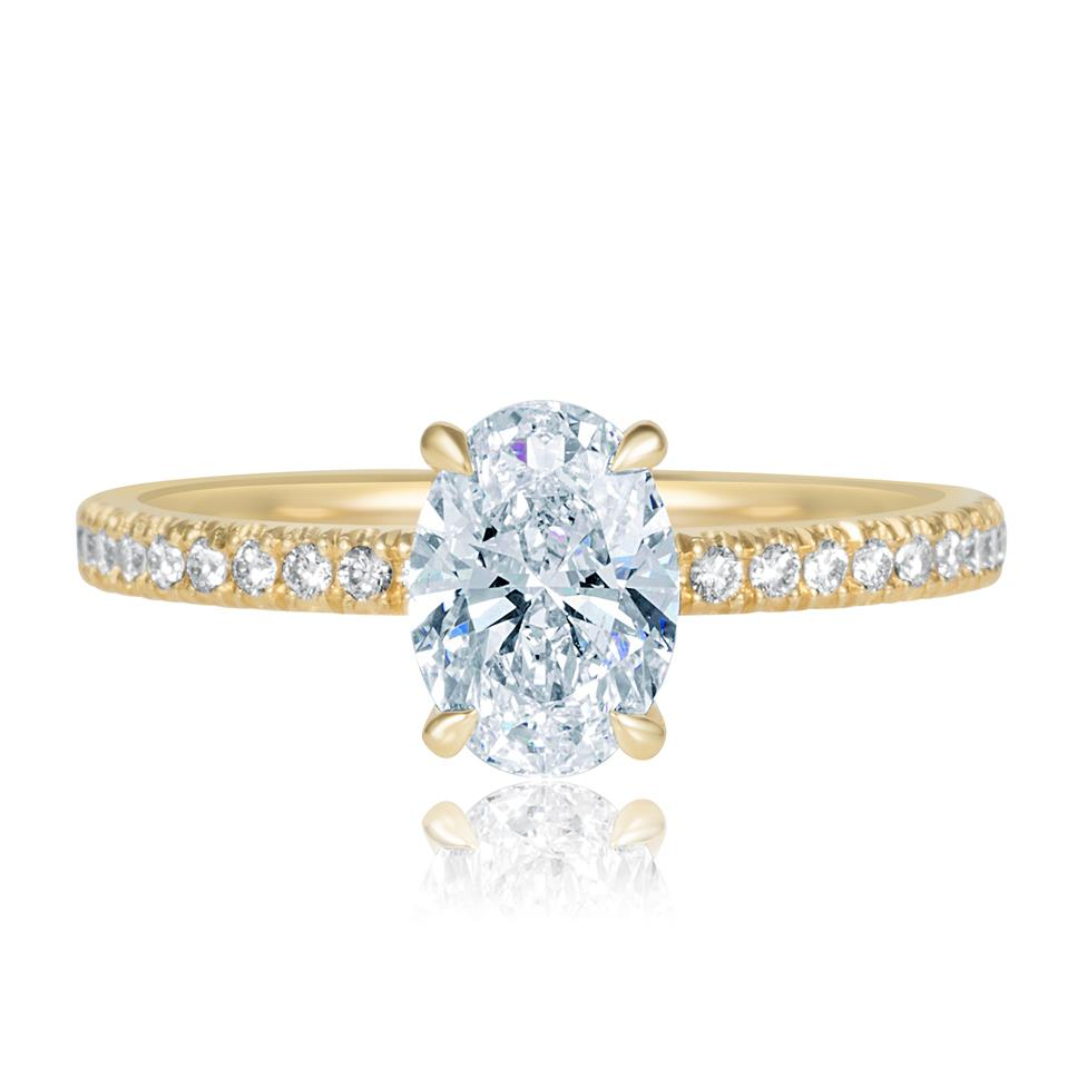 18ct Yellow Gold Oval Diamond Solitaire Engagement Ring 1.19ct Thumbnail Image 1