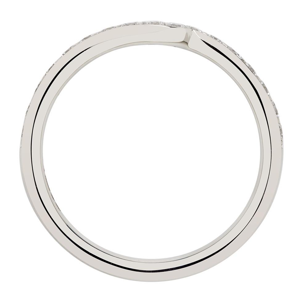 Platinum Diamond Set Shaped Wedding Ring 0.25ct Thumbnail Image 2