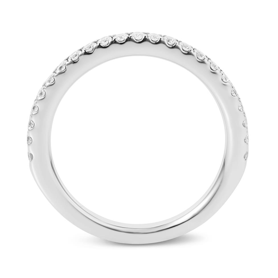 Platinum Diamond Half Eternity Ring 0.22ct Thumbnail Image 3