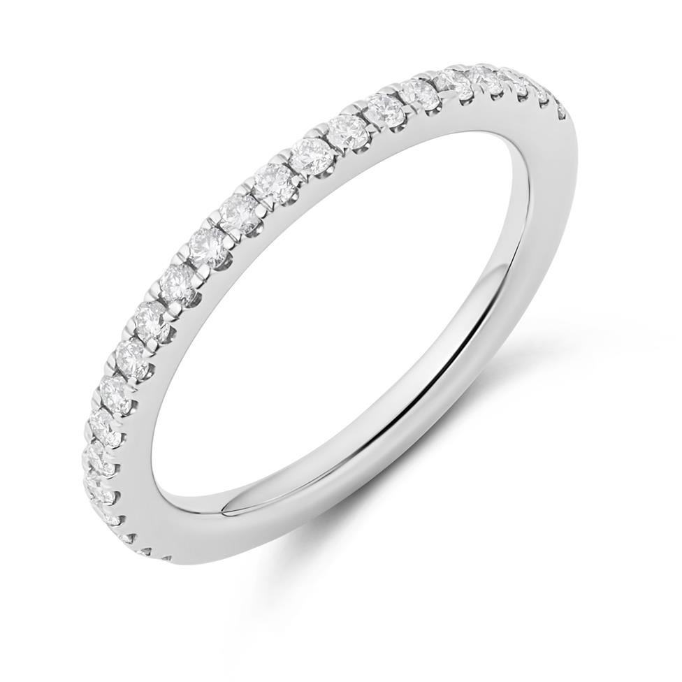 Platinum Diamond Half Eternity Ring 0.23ct Image 1
