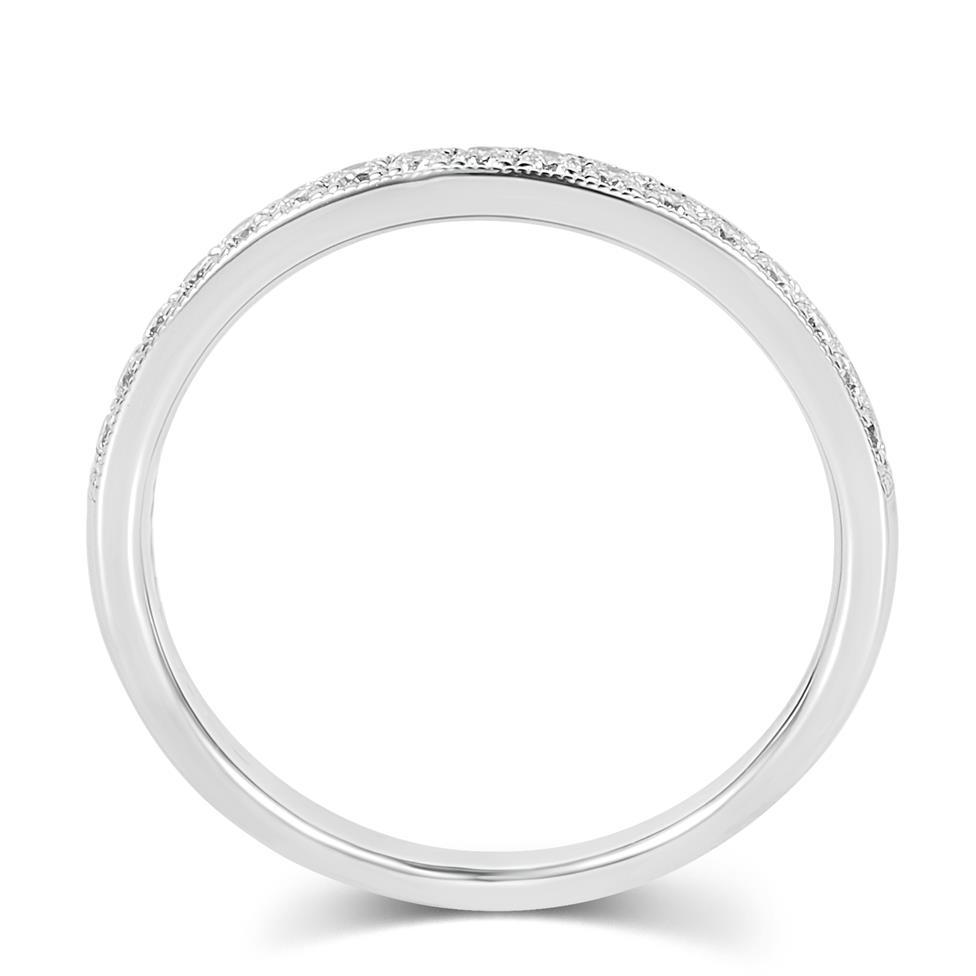 Platinum Diamond Half Eternity Ring 0.20ct Thumbnail Image 2
