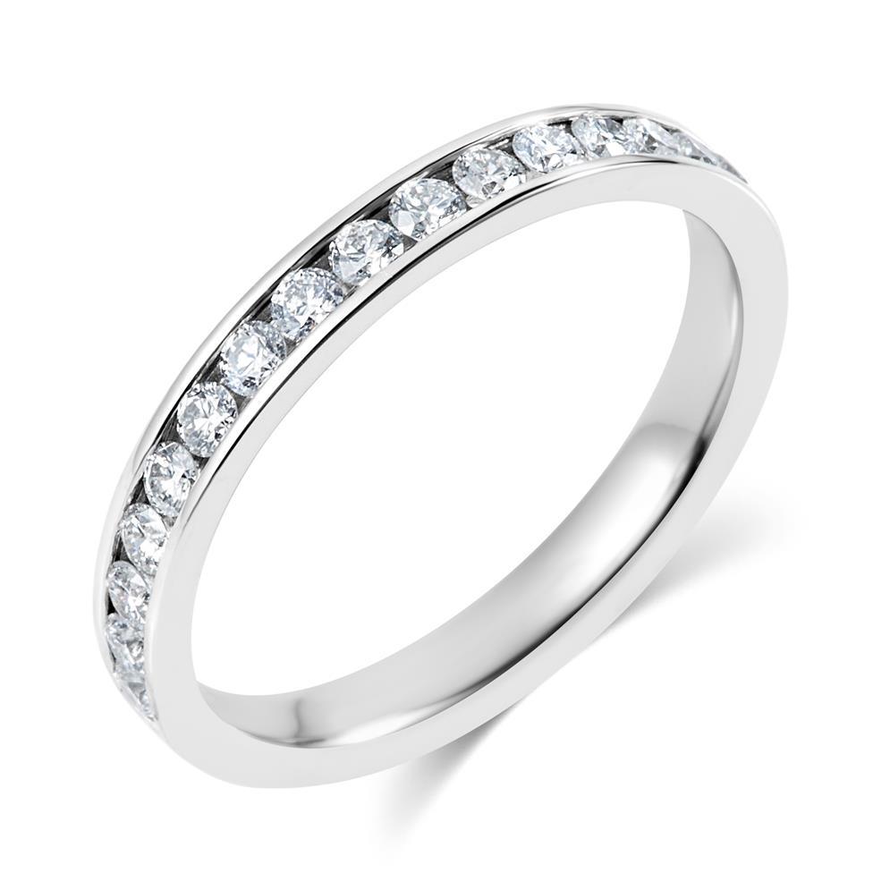 Platinum Diamond Half Eternity Ring 0.35ct Thumbnail Image 0