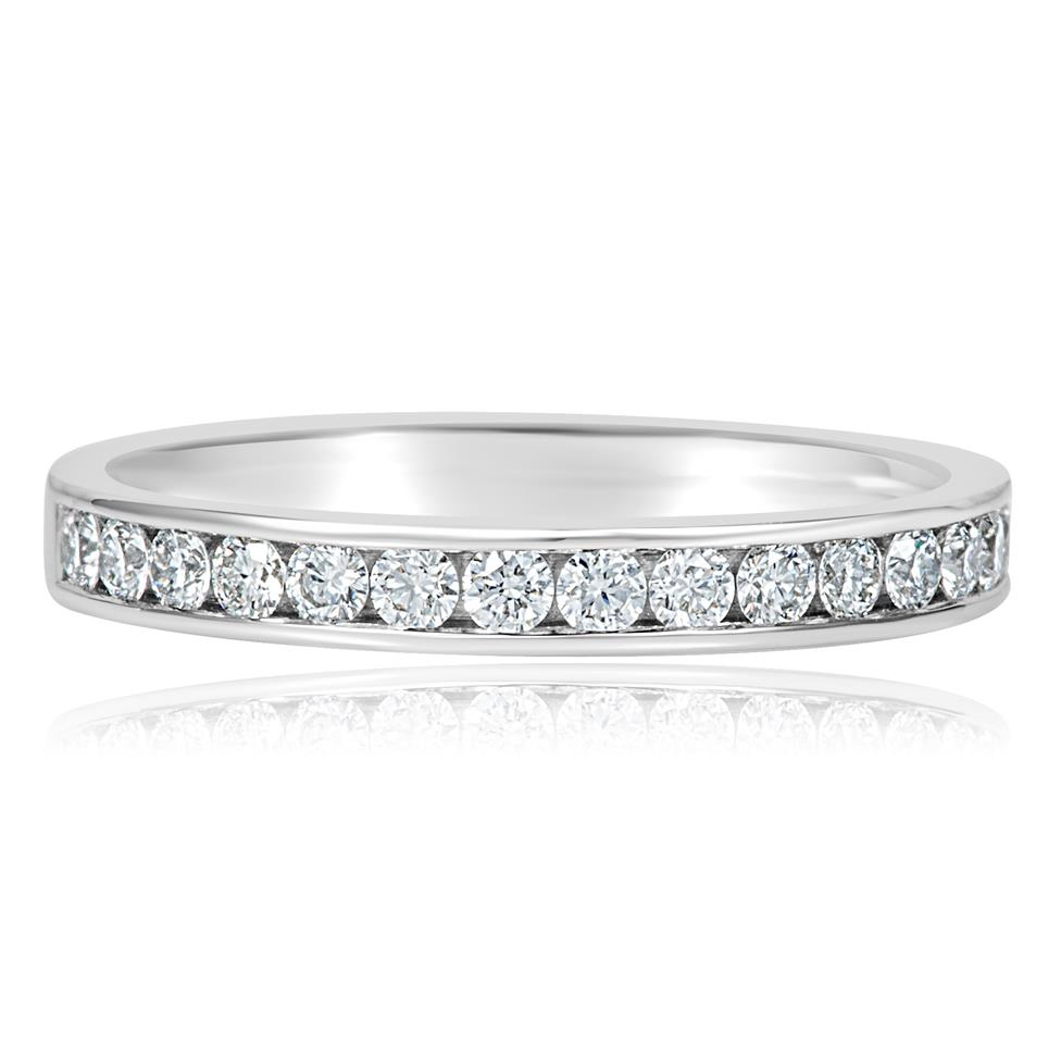 Platinum Diamond Half Eternity Ring 0.35ct Thumbnail Image 1