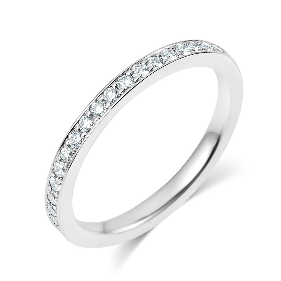 Platinum Diamond Half Eternity Ring 0.27ct Thumbnail Image 0