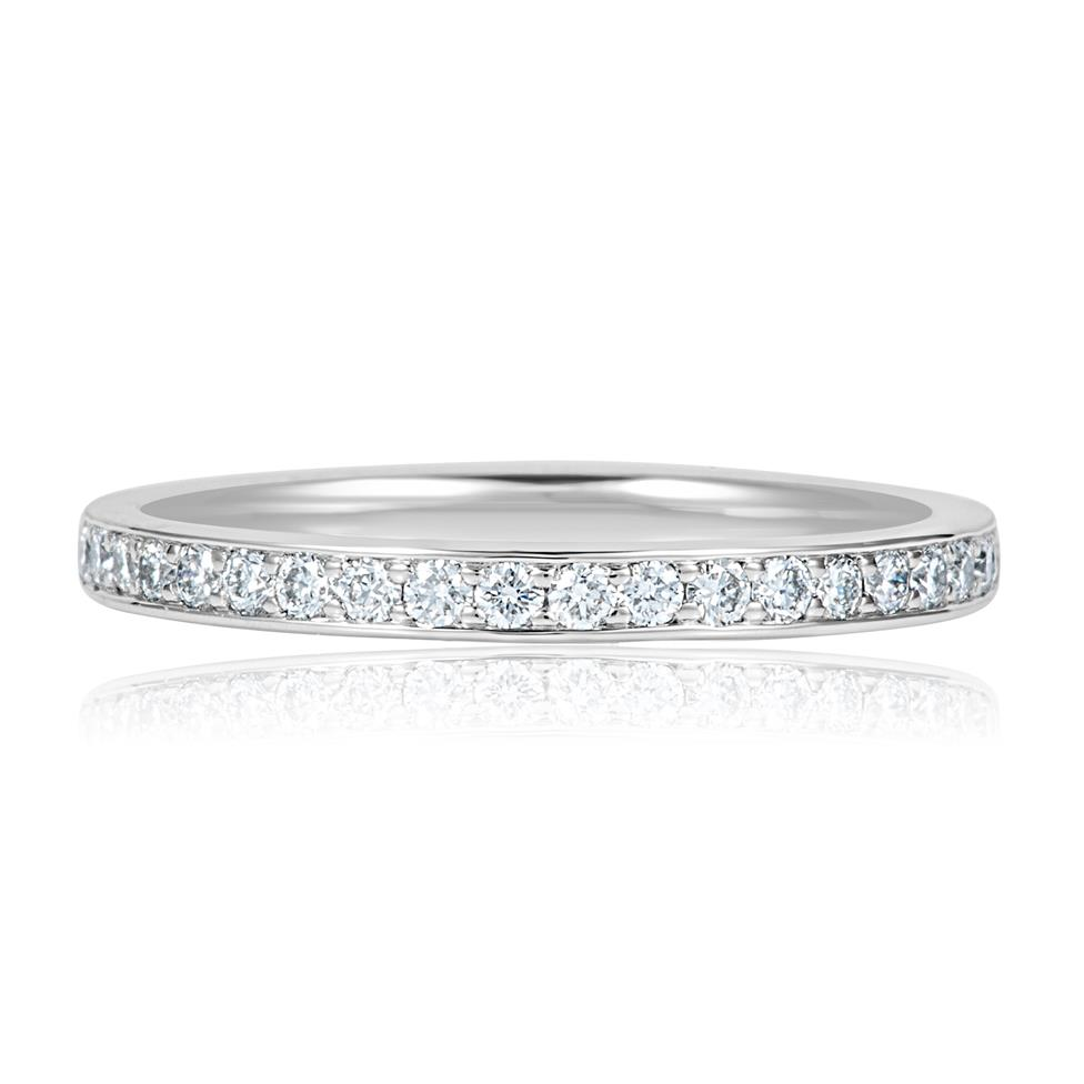 Platinum Diamond Half Eternity Ring 0.27ct Thumbnail Image 1
