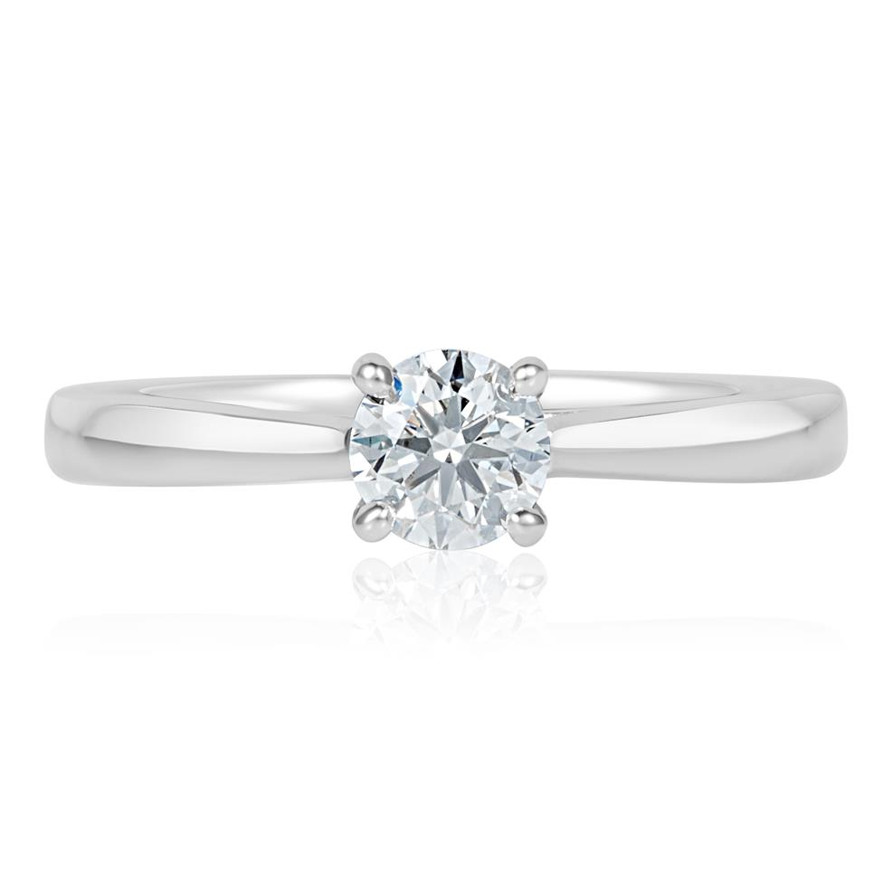 Platinum Diamond Solitaire Engagement Ring 0.35ct Thumbnail Image 1